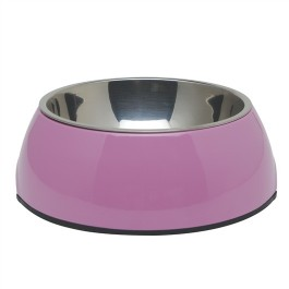Dogit 2-in-1 Dog Dish, Small-Pink. Holds 350 mL (11.8 fl oz) [73541]