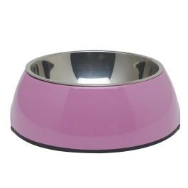 Dogit 2-in-1 Dog Dish, Medium-Pink. Holds 700 mL (23.6 fl oz) (73547)
