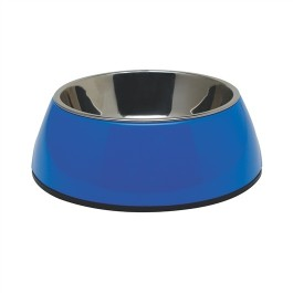 Dogit 2-in-1 Dog Dish-,XSmall, blue (160 ml/5.4 fl oz) [73536]