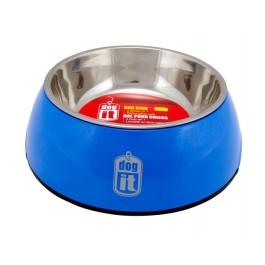 Dogit 2-in-1 Dog Dish, Small-Blue. Holds 350 mL (11.8 fl oz) (73542)
