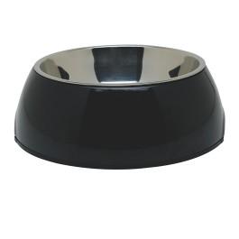 Dogit 2-in-1 Dog Dish, Medium, Black (700 ml / 23.6 fl oz) (73550)