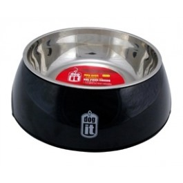 Dogit 2-in-1 Dog Dish, Small-Black. Holds 350 mL (11.8 fl oz) [73544]