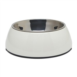 Dogit 2-in-1 Dog Dish,Medium, White (700 ml / 23.6 fl oz) [73551]