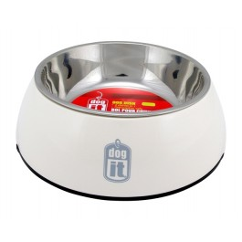Dogit 2-in-1 Dog Dish, Small-White. Holds 350 mL (11.8 fl oz) [73545]