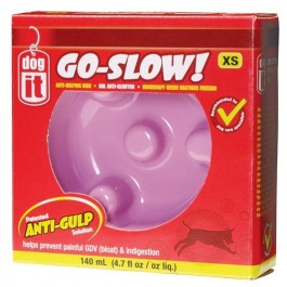 Dogit Go Slow Anti-Gulping Dog Dish, Pink, Xsmall (140ml/4.7 fl oz) [73701]