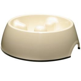 Dogit Go Slow Anti-Gulping Dog Dish, White, Medium (600ml/20.2 fl oz) (73718)