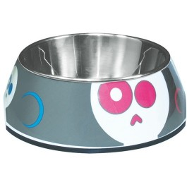Dogit Style 2-in-1 Dog Dish- Electric Skulls, Small (350ml/11.8 fl oz) [73726]