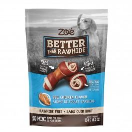 Zoë Better Than Rawhide BBQ Chicken Flavor 10 Mini Bones 234g (92008)