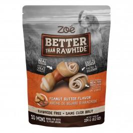 Zoë Better Than Rawhide Peanut Butter 10 Mini Bones 234g (92009)