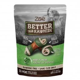 Zoë Better Than Rawhide 10 Mini Bones Mint Flavor 234g (92010)
