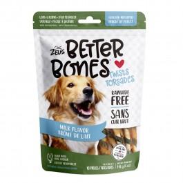 Zeus Better Bones Milk Flavor Chicken Wrapped Twists 10pcs 114g (92755) NEW