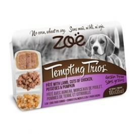 Zoë Tempting Trios Pâté with Lamb, Cuts of Chicken, Potatoes & Pumpkin - 100 g (3.5 oz)