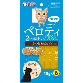 Sunrise Nyanta Perotei Kiss Duo-Pack Bonito & Scallop Liquid Cat Treats