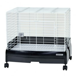 Wild Sanko Easy Home Rabbit Cage  - AVAILABLE IN GLOSS BLACK,CREAM,PINK & WHITE (C51)
