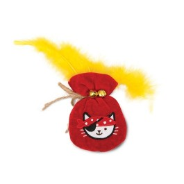 Catit Play Pirates Catnip Toys - Plush Gold Pouch (NEW)