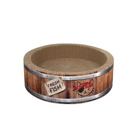 Catit Play Pirates Barrel Scratcher with Catnip - Small 36 cm (NEW)