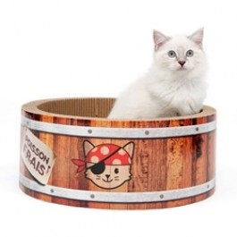 Catit Play Pirates Barrel Scratcher with Catnip - Large 42cm (NEW) [42489]
