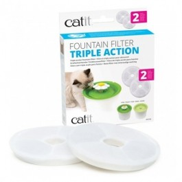 Catit Triple Action Fountain Filter - 2 pack (43745)