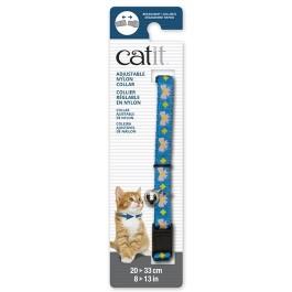 Catit Adjustable Breakaway Nylon Collar Blue with Pink Bows 20-33cm (55186)
