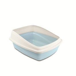 Catit Rimmed Cat Pan (M) Blue Base Cool Grey Rim (36621)