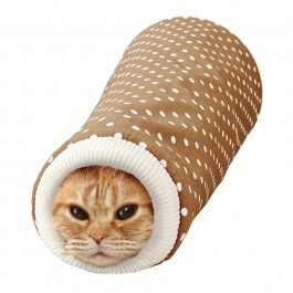 MARUKAN SLEEVE SHAPED TUNNEL FOR CATS - AVAILABLE IN PINK & BROWN