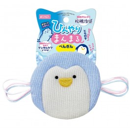 Marukan Cool Fabric Round Penguin Toy with Loops for Cats (CT494)