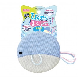 Marukan Cool Fabric Round Whale Toy with Loops for Cats (CT495)