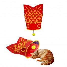 Marukan Shakashaka Goldfish Shaker Toy for Cats