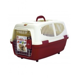 MARUKAN PET CARRIER M - AVAILABLE IN RED & BLUE (DC155)