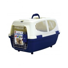 MARUKAN PET CARRIER M - AVAILABLE IN RED & BLUE (DC156)