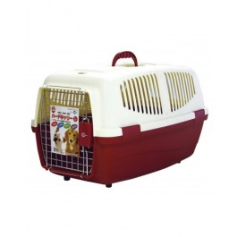 MARUKAN PET CARRIER L - AVAILABLE IN RED & BLUE (DC157)