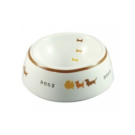 Marukan Pet Feeder Decorative Porcelain Bowl S - Available in 2 Colours (DC196)