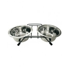 Marukan Stainless Double Feeder- Available in S & M (DC35)