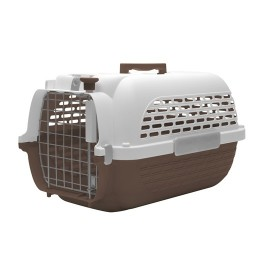 Dogit Voyageur Dog Carrier- Brown/White, Small (48.3 cm L x 32.6 cm W x 28 cm H / 19in x 12.8in x 11in) (76605)