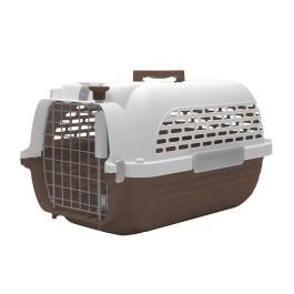 Dogit Voyageur Dog Carrier - Brown/White, Medium - 56.5 cm L x 37.6 cm W x 30.8 cm H (22in x 14.8in x 12in) (76615)