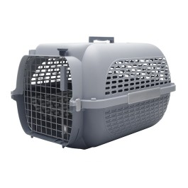Dogit Voyageur Dog Carrier - Light Grey/Charcoal - Large - 61.9 cm L x 42.6 cm W x 36.9 cm H (24.3 in x 16.7 in x 14.5 in) (76626)