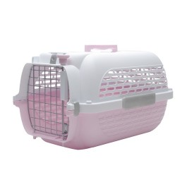 Dogit Voyageur Dog Carrier - Pink/White, Small - 48.3 cm L x 32.6 cm W x 28 cm H (19in x 12.8in x 11in) [76608]