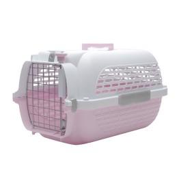 Dogit Voyageur Dog Carrier - Pink/White - Medium - 56.5 cm L x 37.6 cm W x 30.8 cm H (22 in x 14.8 in x 12 in) (76618)