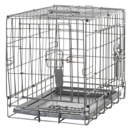 Dogit Two Door Wire Home Crates with divider - XSmall - 46.5 x 31 x 37 cm (18.2 x 12 x 14.5 in) [90561]