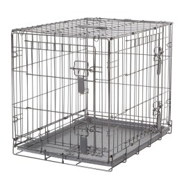 Dogit Two Door Wire Home Crates with divider - Small - 61 x 45 x 51 cm (24 x 17.5 x 20 in) (90562)