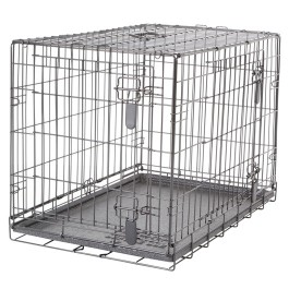 Dogit Two Door Wire Home Crates with divider - Medium - 77 x 48 x 54.5 cm (30 x 19 x 21.5 in) (90563)
