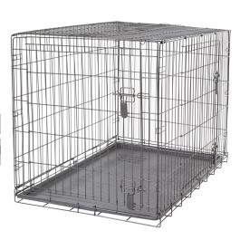 Dogit Two Door Wire Home Crates with divider - XLarge - 106.5 x 70 x 77 cm (42 x 27.5 x 30 in) [90565]
