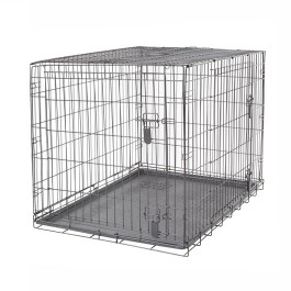Dogit Two Door Wire Home Crates with divider - XXLarge - 122.5 x 74.5 x 80.5 cm (48 x 29.3 x 31.5 in) (90566)