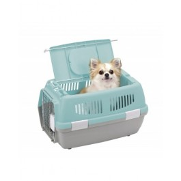 MARUKAN 2 DOOR CARRY FOR DOGS & CATS - AVAILABLE IN BLUE, PINK & BROWN (DP172)