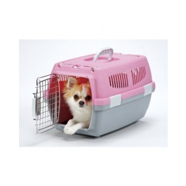 MARUKAN 2 DOOR CARRY FOR DOGS & CATS - AVAILABLE IN BLUE, PINK & BROWN (DP173)