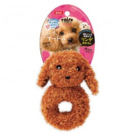 Marukan Ring Shape Toy Poodle with Squeaker (DP353)