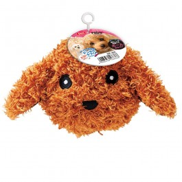 Marukan Ball Shape Toy Poodle with Squeaker (DP355)