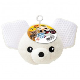 Marukan Ball Shaped Toy Chihuahua with Squeaker (DP358)
