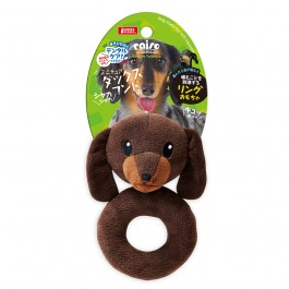 Marukan Ring Shaped Toy Dachshund with Squeaker (DP359) NEW