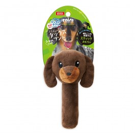 Marukan Stick Shaped Toy Dachshund with Squeaker (DP360)